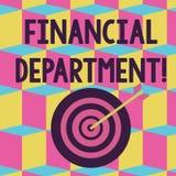 Texttecken som visar finansiell avdelning Begreppsmässig fotodel av en organisation som analysisages dess pengarfärgpil vektor illustrationer