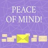 Texttecken som visar fred av meningen Begreppsmässigt foto som är fridsamt lyckligt med saker som du har gjort och utför stock illustrationer