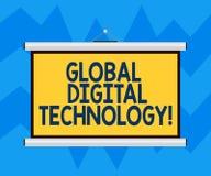 Texttecken som visar global Digital teknologi Begreppsmässigt foto digitaliserad information i form av mellanrum för numerisk kod royaltyfri illustrationer