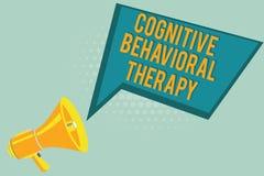 Texttecken som visar kognitiv beteende- terapi Psykologisk behandling för begreppsmässigt foto för psykiska störningar royaltyfria foton