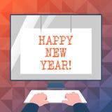 Texttecken som visar lyckligt nytt år Glad Xmas för begreppsmässiga fotolyckönskan alla börja av Januari vektor illustrationer