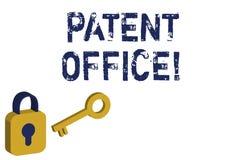 Texttecken som visar patentkontoret Begreppsmässigt foto ett kansli som gör beslut om att ge patentguling vektor illustrationer