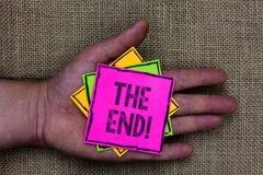Texttecken som visar slutet Motivational appell Begreppsmässig fotoavslutning av tid för något avsluta av liv som rymmer liten pi fotografering för bildbyråer