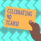 Textteckenvisning som firar 40 år Begreppsmässigt foto som hedrar Ruby Jubilee Commemorating en special dag utdragna Hu vektor illustrationer