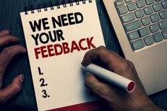 Textteckenvisningen behöver vi din återkoppling Det begreppsmässiga fotoet ger oss dina granskningtankar kommentarer vad för att  fotografering för bildbyråer
