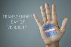 Texttransgendertag von Sicht stockfotografie