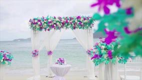 Textture как раз поженено в установке свадьбы на частном пляже акции видеоматериалы
