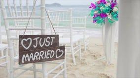 Textture как раз поженено в установке свадьбы на частном пляже видеоматериал