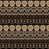 Textu floreale degli elementi del modello di arabesque senza cuciture orientale del damasco Fotografia Stock
