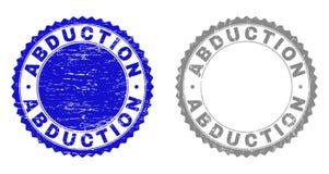 Textur-ABDUKTION verkratzte Stempelsiegel mit Band vektor abbildung