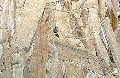 Textur av arket OSB för konstruktionsmaterial Royaltyfria Foton