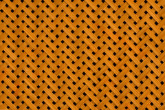 Textur av bambu som väver med hål Royaltyfria Bilder