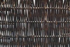 Textur av bambukorgen Royaltyfria Bilder