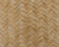 Textur av bambuväggbakgrund Arkivfoto