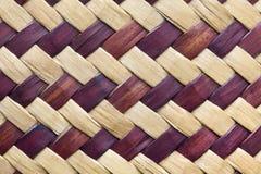 Textur av bambuväv Arkivfoton