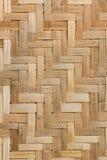 Textur av bambuväv Arkivbilder
