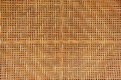 Textur av bambuväv Arkivfoto