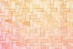Textur av bambuväv Royaltyfri Fotografi