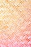Textur av bambuväv Royaltyfria Bilder