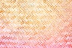 Textur av bambuväv Arkivbild