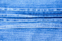 Textur av blå grov bomullstvilljeansbakgrund Fotografering för Bildbyråer