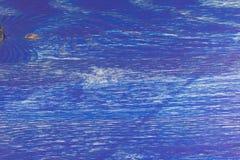 Textur av blått målat trä Royaltyfri Fotografi