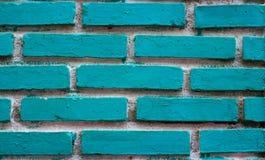 Textur av blå bakgrund för vit för grungetegelstenvägg Arkivbild