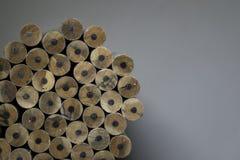 Textur av blyertspennor Arkivfoto