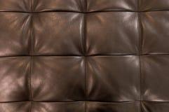 Textur av brun bakgrund för stoppninglädermodell Royaltyfri Fotografi