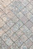 Textur av closeupen f?r stenl?ggningtjock skiva Grey Square Pattern royaltyfri foto