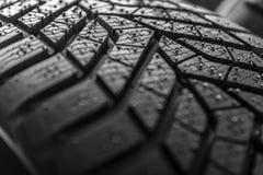 Textur av däckmönster för bilgummihjul royaltyfri foto