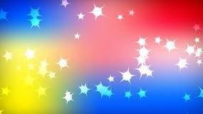 Textur av de härliga festliga polygonal kosmiska magiska färgrika mångfärgade avlägsna ljusa brokiga galaktiska stjärnorna och ko stock illustrationer