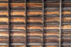 Textur av de japanska träväggarna Arkivfoto