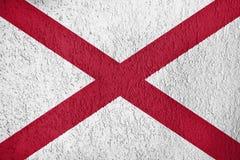 Textur av den Alabama flaggan royaltyfria foton