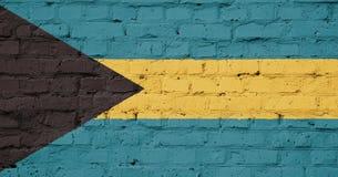 Textur av den Bahamas flaggan Arkivbilder