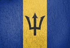 Textur av den Barbados flaggan royaltyfri illustrationer