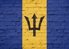 Textur av den Barbados flaggan Arkivfoto