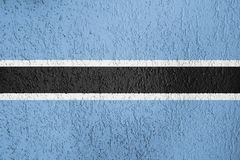 Textur av den botswanska flaggan Royaltyfria Bilder