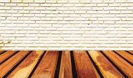 Textur av den bruna wood tabellen Royaltyfria Foton