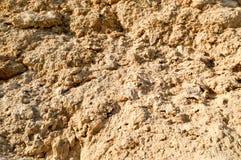 Textur av den brunt kors sned naturliga smuliga smuliga sandiga naturliga stenen och kopierar stället Arkivbilder