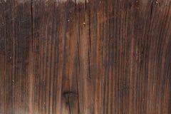 Textur av den gamla bruna träväggen Ruttet bräde Arkivbild