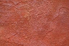 Textur av den gamla orange väggen Arkivbilder