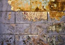 Textur av den gamla skrapade väggen Arkivbild