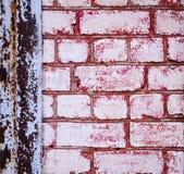 Textur av den gamla tegelstenväggen Royaltyfria Foton