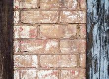 Textur av den gamla tegelstenväggen Arkivfoton