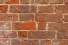Textur av den gamla tegelstenväggen på gatan Fotografering för Bildbyråer