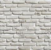 Textur av den gamla tegelstenväggen vita tegelstenar Arkivfoton