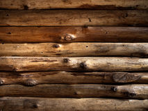 Textur av den gamla timmerträväggen Arkivfoto
