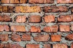 Textur av den gamla väggen för röd tegelsten Royaltyfri Fotografi