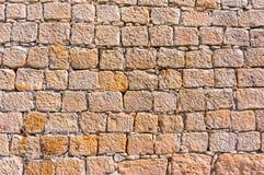 Textur av den gammala rockväggen för bakgrund Royaltyfria Foton